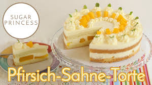 einfache käse sahne torte mit pfirsich rezept sugarprincess