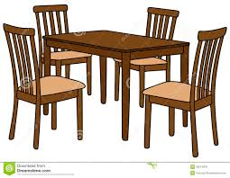 Collapsible Round Dining Table School Clip Art Clipart Kitchen And Chairs Hd Royalty Free Stock Images Image About Cream Theme