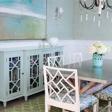Blue Sideboard Cabinet With Trellis Doors