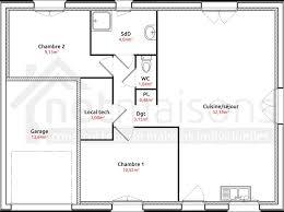 plan de maison 2 chambres plan de maison plain pied 2 chambres et garage plan maison plain