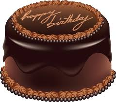 Chocolate Cake Happy Birthday Art PNG Picture
