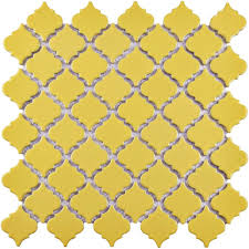 Home Depot Merola Penny Tile by Merola Tile Hudson Tangier Vintage Yellow 12 3 8 In X 12 1 2 In