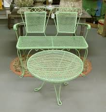 green metal patio chairs best 25 vintage patio furniture ideas on patio store
