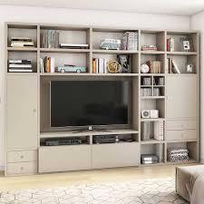 wohnzimmer tv regal in mattem beige wislama