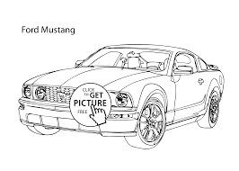 Super Car Ford Mustang Coloring Page Cool Printable Free
