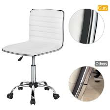 Low Back Armless Desk Chair Ribbed Armless Swivel Task Chair Office Chair  White Amazonbasics Lowback Computer Task Office Desk Chair With Swivel Casters Black Fniture Best Chairs For Back Pain High Wrought Studio Quinton Modern Credenza Desk Reviews Low Armless Ribbed White Depot Flyer 03172019 032019 Weeklyadsus Unboxing And Assembling Mainstays Midblack Brenton Bellanca Guest In Contemporary Transparent Available 7 Colors Depot Inc Unveils Exclusive Seating