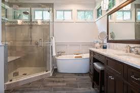 wood look porcelain tile in bathrooms