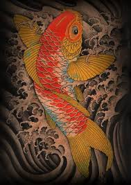 Title Koi Artist Clark North Made To Order Giclee Fine Art Reproductions On Canvas Featuring The Original Artwork Of Todays Hottest Tattoo Artists