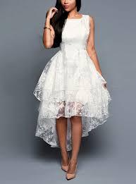 white lace dress layered sleeveless