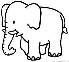 Trend Elephant Printable Coloring Pages