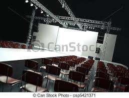 Empty Fashion Show Stage With Runway 3d Rendered Image Clipart