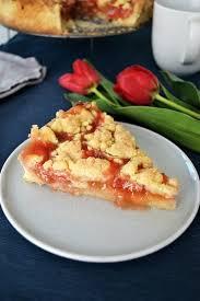 erdbeer rhabarber kuchen rezept vegan undine bloggt
