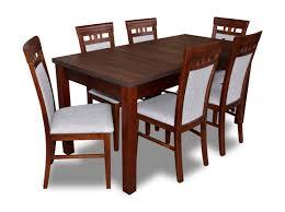 klassische designer esszimmer garnitur holz tisch 6 stühle stuhl garnitur neu