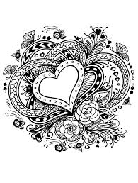 Beautiful Valentines Coloring Page For Adults