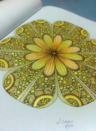 Yellow Flower Colouring Book