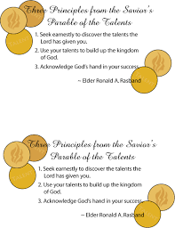 Parable Of Talents Handout