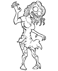 Awesome Collection Of Zombies Coloring Pages To Print On Proposal