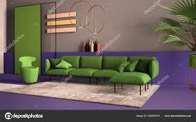 grün und lila gefärbte moderne wohnzimmer sofa sessel