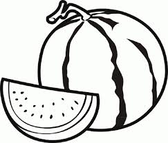 Watermelon Coloring Page Fruit Pages For Kids Inside