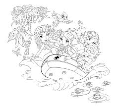 Lego Friends Coloring Pages Rubber Boat Page For Girls Printable Free Download