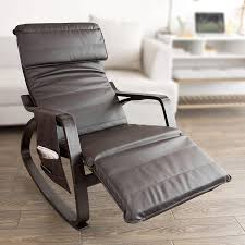 Amazon.com: Haotian Comfortable Relax Rocking Chair With Foot Rest ...