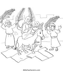 More Images Of Palm Sunday Coloring Page