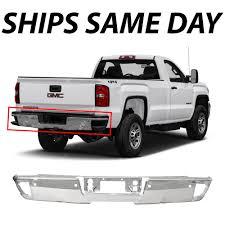 100 Gmc 2014 Truck NEW Chrome Steel Step Bumper Face Bar For 2018 Chevy Silverado