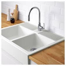 DOMSJ– Double bowl apron front sink IKEA