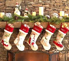 Personalized Rustic Christmas Stockings Remarkable Ideas Decor Fireplace Home Interior 2