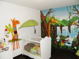 chambre bebe jungle chambre de bébé thème jungle 4 photos popek