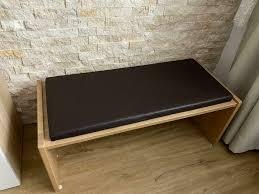 massiv holz sitzbank bank esszimmer braun stuhl gebraucht