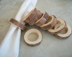 8 Red Pine Wooden Napkin Rings Or Holders For Fairy Tale Weddings Dinner Parties