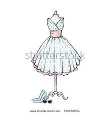 A Stylish Vintage Dress High Heel Shoes Retro Glasses Vector Illustration Fashion