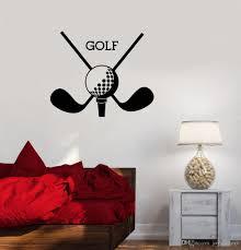 großhandel vinyl wandtattoo golf club sport logo wandaufkleber golf putter neues design wandkunst wandhaupt wohnzimmer vinyl tapete joystickers