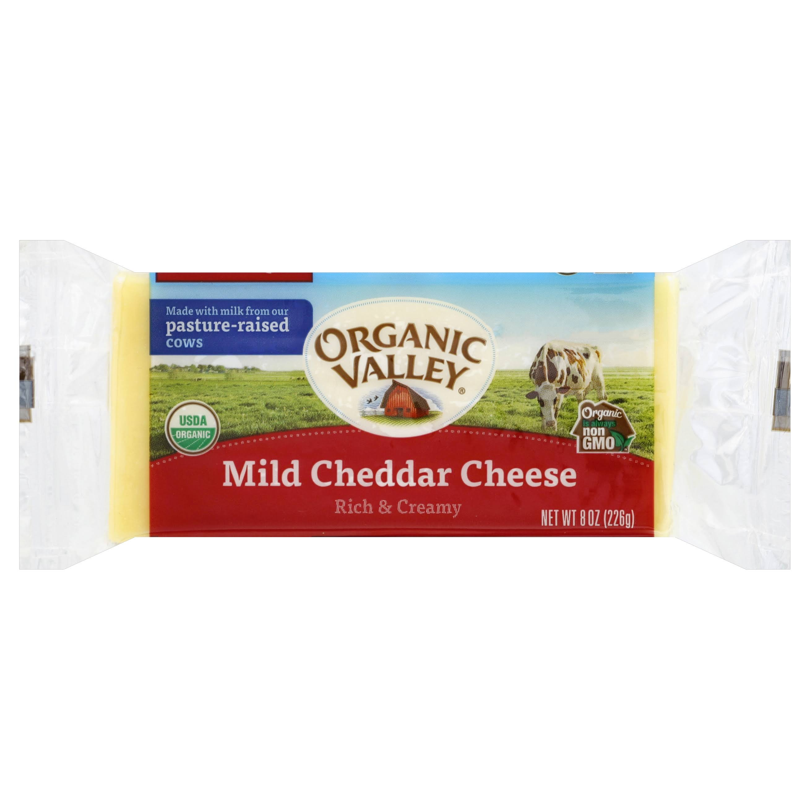 Organic Valley Mild Cheddar Cheese - 226g