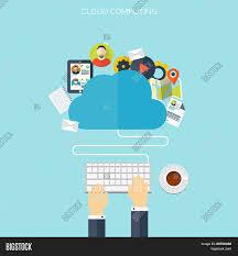 100 Flat Cloud Computing Vector Photo Free Trial Bigstock