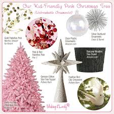 Barcana Christmas Trees by Kid Friendly Pink Christmas Tree Making It Lovely