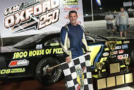 Curt Gerry Collects The Checkered Flag After Winning Oxford 250 On Sunday At Plains Speedway Staff Photo By Andy Molloy