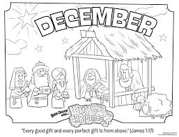 December Coloring Pages Page James 117 Whats In