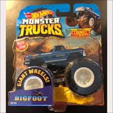 100 Hot Wheels Monster Truck Toys 2019 S Big Foot 4X4 DieCast With Connect And Crash Car 19