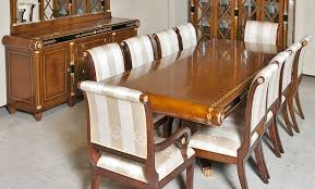 European Empire Style Dining Room Furniture In Cherry Wood With Gold