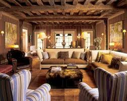 Charming And Fabulous Victorian Living Room Decoration Style With Rustic Ceiling Design