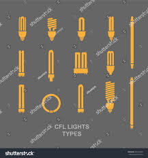 cfl light bulb base type icon stock vector 467694500