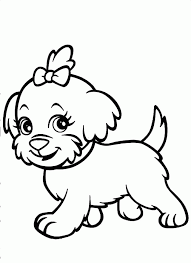 Of Funny Running Shaggy Dog For Coloring Book Or Color Sheets