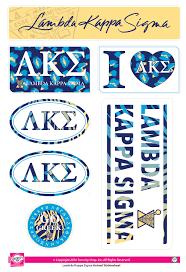 Lambda Kappa Sigma Bohemian Stickers SororityShop