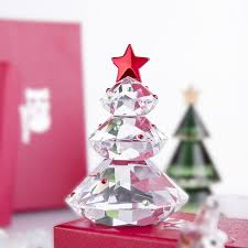 HD Star Christmas Tree Holiday Crystal Ornament Decorative Hand Crafted Collectible Figurines