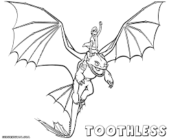Toothless Coloring Pages To Download And Print Free Book