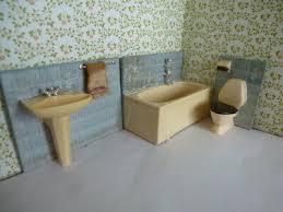 lundby puppenhaus badezimmer blau 3 tlg eur 4 99