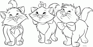 45 Cat Color Pages Colouring Free Cute
