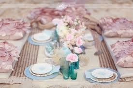 Pink And Blue Wedding Table Settingbeach Theme Ideasbeach Themed Reception